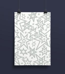 Geschenkpapier Sterne  50 x 70 cm