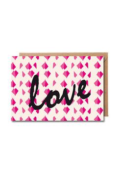 love | Klappkarte: DIN A7 + Umschlag