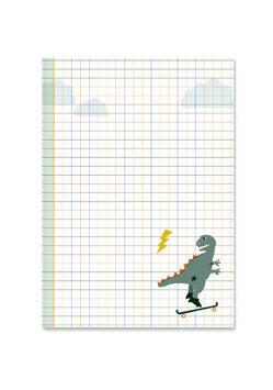 Schreibblock | Dino