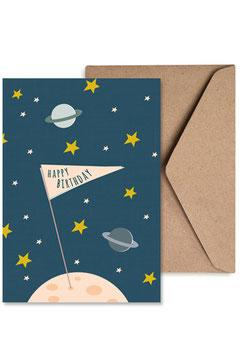 Weltraumerkunder | Klappkarte: DIN A6 + Umschlag