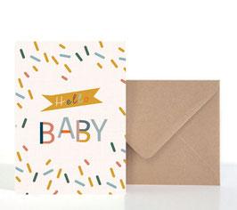 Hello Baby  | Klappkarte: DIN A6 + Umschlag