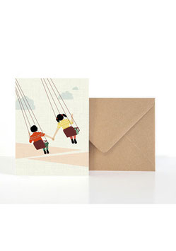 Hand in Hand| Klappkarte: DIN A6 + Umschlag