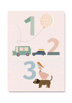 Postkarte | 1 2 3 DIN A6