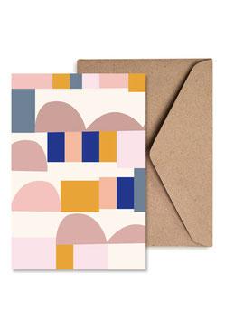 Abstract | Klappkarte mit Umschlag