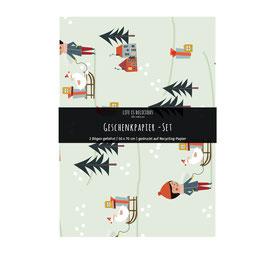 Geschenkpapier-Set / Gans