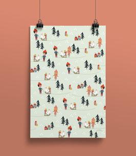 Geschenkpapier Gans Freunde  50 x 70 cm