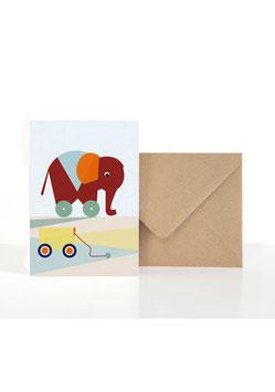 Kleiner Elefant | Klappkarte: DIN A6 + Umschlag