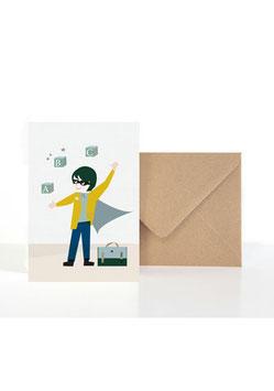 Für alle ABC Superhelden | Klappkarte: DIN A6 + Umschlag