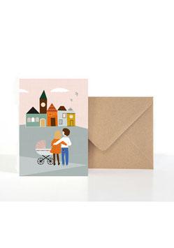 Für die Taufe oder Geburt| Klappkarte: DIN A6 + Umschlag