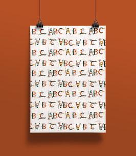 NEU Geschenkpapier ABC-Freunde | 50 x 70 cm