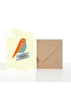 Herzlichen Glückwunsch | Klappkarte: DIN A6 + Umschlag