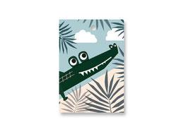 Anhänger Motiv »Krokodil« | birkenfunier mit verschluss