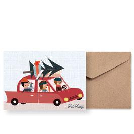 Der Weihnachtsexpress | Klappkarte: DIN A6 + Umschlag