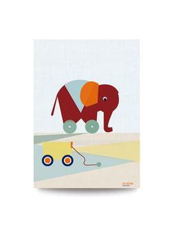 Kleiner Elefant | Druck: DIN A3