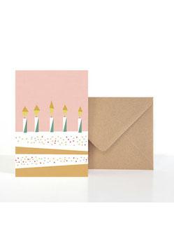 Birthday Cake| Klappkarte mit Umschlag