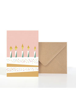 Birthday Cake| Klappkarte: DIN A6 + Umschlag