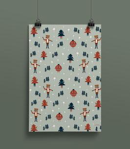 Geschenkpapier Nussknacker  50 x 70 cm