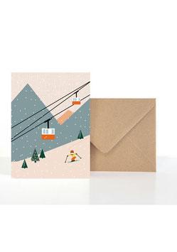 Berg und Tal | Klappkarte: DIN A6 + Umschlag