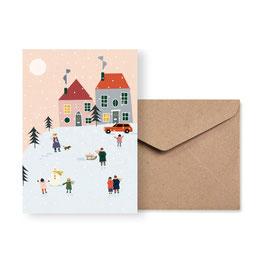 Schneegestöber | Klappkarte: DIN A6 + Umschlag