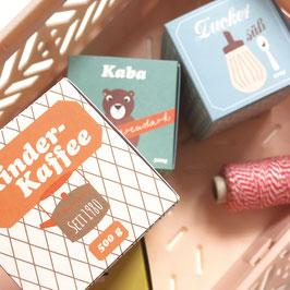 Verpackungen für den Kinderkaufladen Neu mit gestanzter Form | 6 Verpackungen
