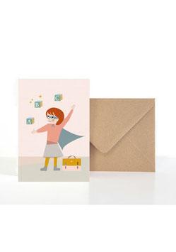 Für alle ABC Superheldinnen Klappkarte: DIN A6 + Umschlag