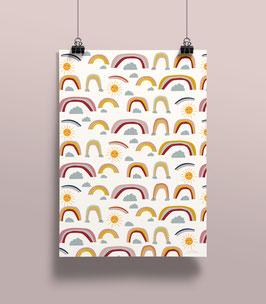 Geschenkpapier Regenbogen | 50 x 70 cm
