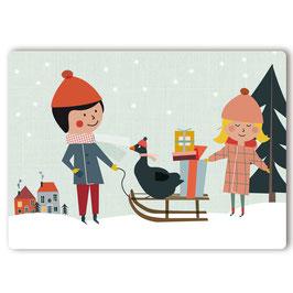 Freunde Gans Postkarte