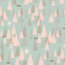 Geschenkpapier weihnachtlicher Wald | 50 x 70 cm
