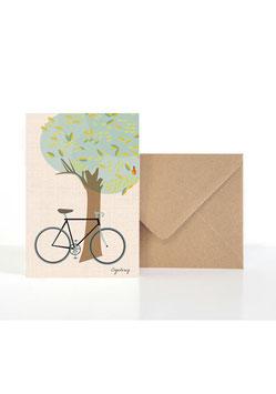Cycling | Klappkarte: DIN A6 + Umschlag