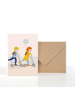 Kleine Weggefährten | Klappkarte: DIN A6 + Umschlag