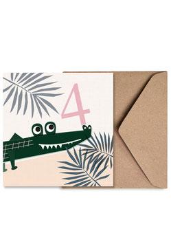 Nummer Vier | Klappkarte: DIN A6 + Umschlag