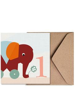 Nummer Eins | Klappkarte: DIN A6 + Umschlag