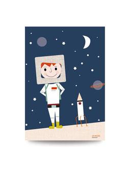 Der kleine Astronaut | Druck: DIN A3