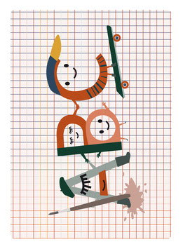 Postkarte ABC-Freunde