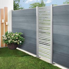 System WPC Platinum XL Grau, 178 x 183 cm
