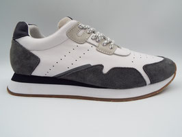 SCHOOMVE TRAIL JOGGER CUIR/SUEDE WHITE/NAVY