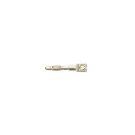Steckerstift für 2-pol Kabelstecker, 3 mm, vernickelt