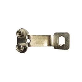 Florett-Glockenstecker, 2-polig