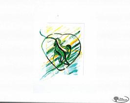 ...mit Herz Aquarell hinter Glas  Größe: ca 60 x 90 cm  hochwertige Schmiencke Aquarelllfarben