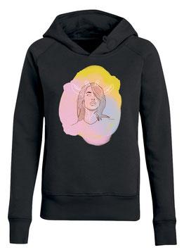 Dames hoodie black