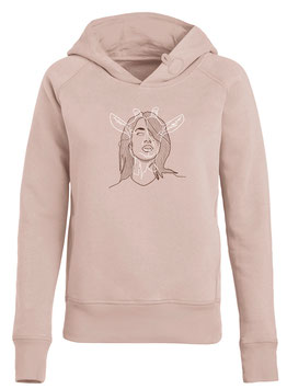 Dames hoodie pink