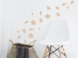 Wandsticker Blätter