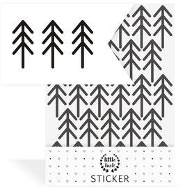 Wandsticker Tannen, minimalistisch