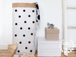 Paperbag DIY mit Punkten (3cm) / Papiersack XXL