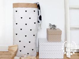 Paperbag DIY kleine Herzen / Papiersack XXL