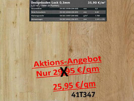 Klick Vinyl Designboden Top-Lock 0,30 mm 41T347 Aktion