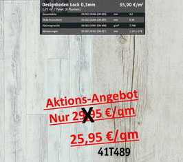 Klick Vinyl Designboden Top-Lock 0,30 mm 41T489 Aktion