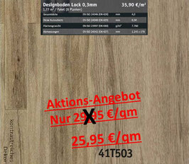 Klick Vinyl Designboden Top-Lock 0,30 mm 41T503 Aktion
