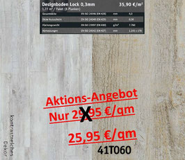 Klick Vinyl Designboden Top-Lock 0,30 mm 41T060 Aktion