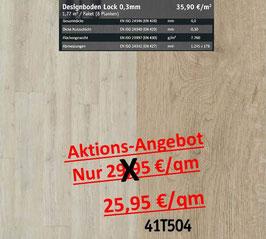 Klick Vinyl Designboden Top-Lock 0,30 mm 41T504 Aktion